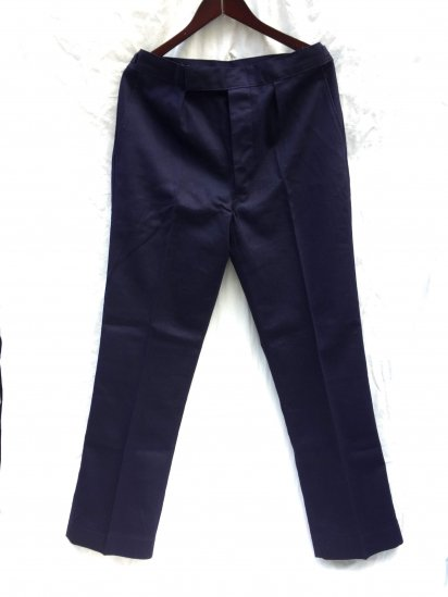 """70's Vintage Dead Stock """"All Cotton"""" Royal Navy Trousers Working Dress Blue / 1"""