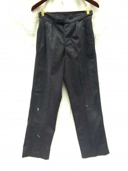 70's ~ 80's Vintage Royal Navy Trousers Working Dress Blue / 3