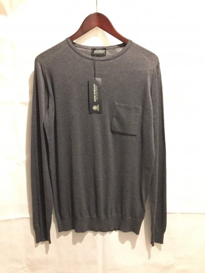 John Smedley Sea Island Cotton Knit SAWLEY MENS PULLOVER Made in England