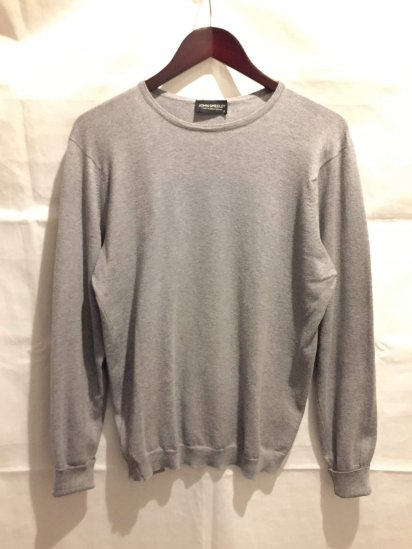 USED John Smedley Sea Island Cotton Knit Crew Neck Made in England
