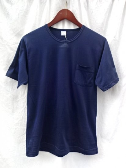 Gicipi Cotton Jersey Pocket Tee MADE IN ITALY Navy