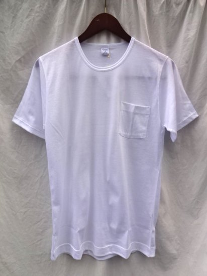 Gicipi Cotton Jersey Pocket Tee MADE IN ITALY White