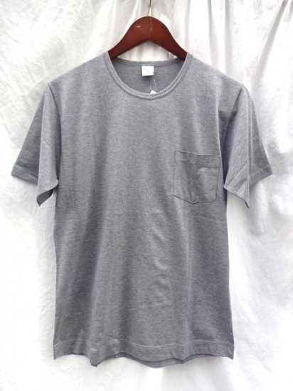 Gicipi Cotton Jersey Pocket Tee MADE IN ITALY Grey