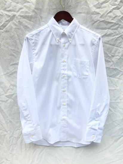 "INDIVIDUALIZED SHIRTS "" Pima Pin Oxford B.D Shirt"" MADE IN U.S,A White"