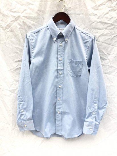 "INDIVIDUALIZED SHIRTS "" Pima Pin Oxford B.D Shirt"" MADE IN U.S,A Blue"