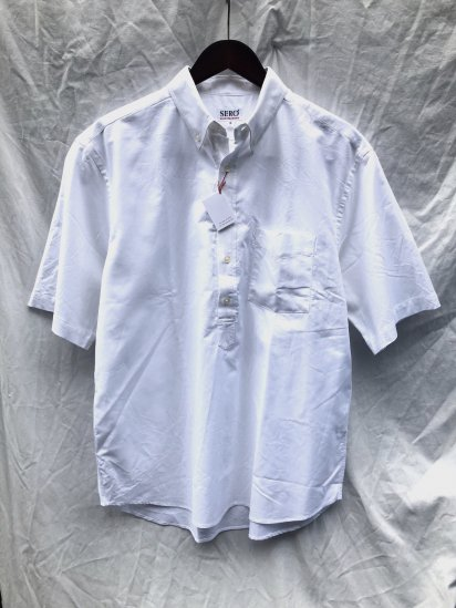 SERO Pullover B.D Short Sleeve Shirt White