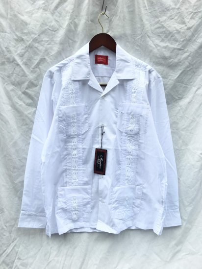 MAXIMOS Mexico Cuba Shirts Long Sleeve<BR>White