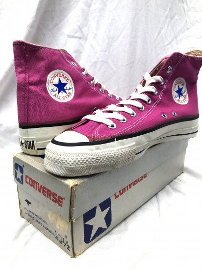 80's ~ Vintage Deadstock! Converse All Star Made in U.S.A Raspberry