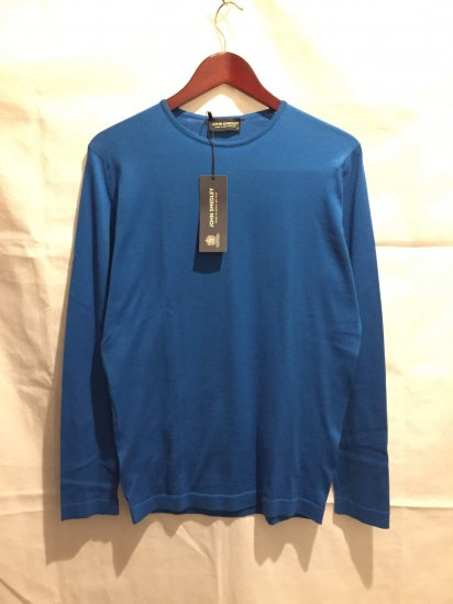 JOHN SMEDLEY Sea Island Cotton Knit OSKAR PULLOVER Made in England