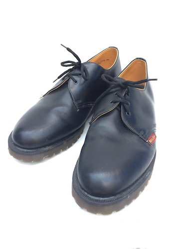 90's Vintage Dr.Martens 3eye Plain Toe for ROYAL MAIL Made in ENGLAND Mint Condition Black / 1