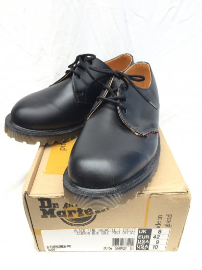 90's Vintage Dead Stock Dr.Martens 3eye GIBSON ROYAL MAIL Made in ENGLAND Black / 5