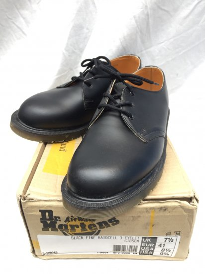 90's Vintage Dead Stock Dr.Martens 3eye GIBSON Made in ENGLAND Black / 6