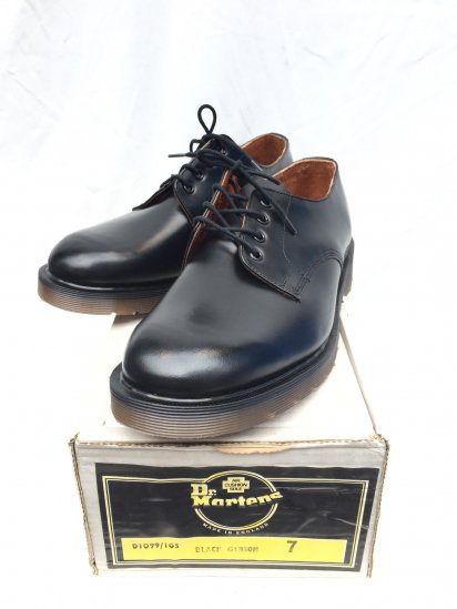 70's ~ 80's Vintage Dead Stock Dr.Martens x Tredair 4eye GIBSON Made in ENGLAND Black / 7
