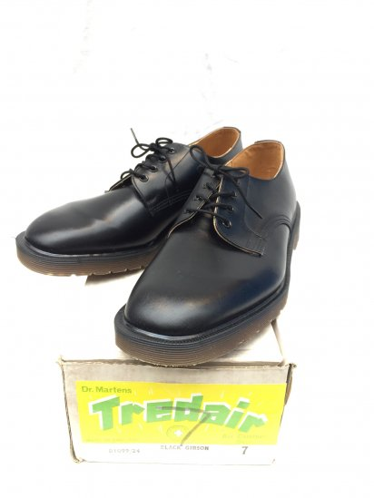 70's ~ 80's Vintage Dead Stock Dr.Martens x Tredair 4eye GIBSON Made in ENGLAND Black / 9