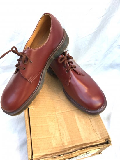 70's ~ 80'sVintage Dead Stock Dr Martens 3 eyelet Derby Cherry Red / 12