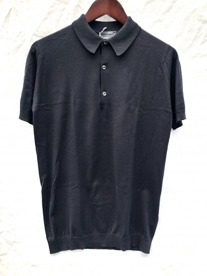 John Smedley Sea Island Cotton Knit 30G Short Sleeve Polo Shirts