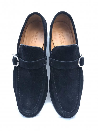 Old GUCCI Moccasin Slip on Made in Italy Black