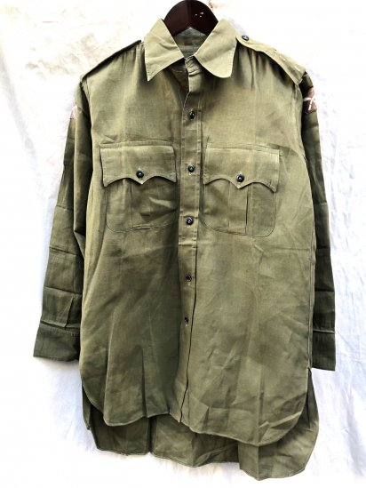 50's Vintage British Army Aertex Jungle Shirts Mint Condition! Khaki / 2