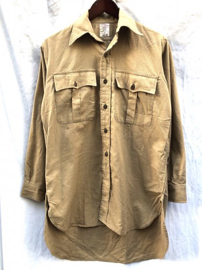 60's ~ Vintage RAF (Royal Air Force) Aertex Tropical Shirts Good Condition! Khaki / 3