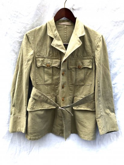 40's ~ Vintage British Army Officer Khaki Drill Tropical Jacket Khaki
