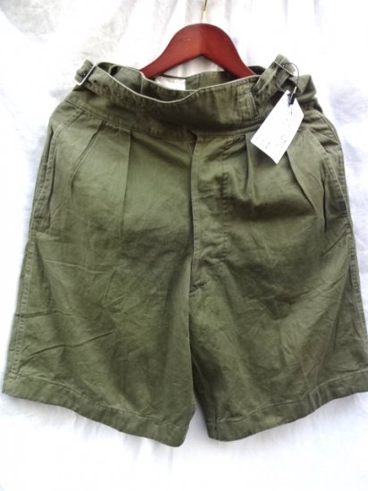 60's Vintage Mint Condition British Army 1950 Pattern Jungle Drill Shorts Olive / 3