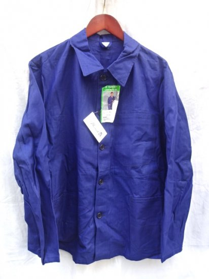 80's Vintage Dead Stock HBT Grerman Work Jacket Navy / 2