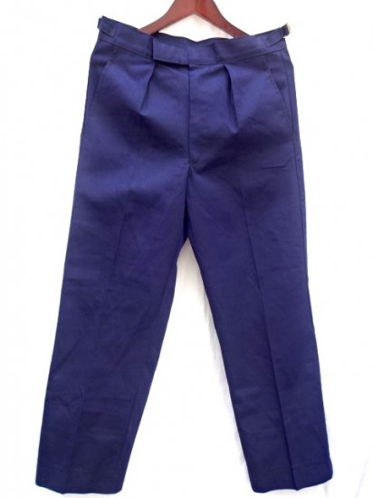 70's ~ 80's Vintage Dead Stock Royal Navy Working Dress Trousers Navy