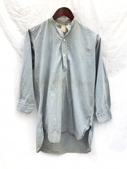 40's Vintage RAF (Royal Air Force) Airministry Officer Shirts Blue Grey / 4