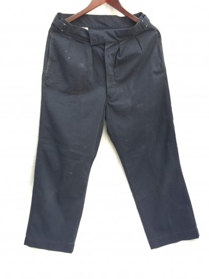 70's Vintage Royal Navy Trousers Navy 9A