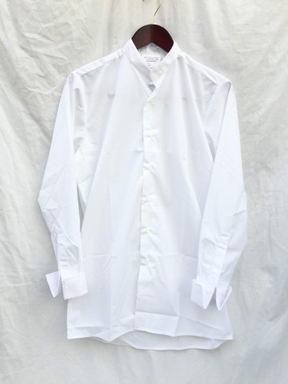 Dead Stock Royal Navy Collarless Shirts White / 2