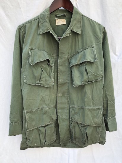 60's Vintage US Army 3nd Pattern Jungle Fatigue Jacket Extra Small - Short / 3