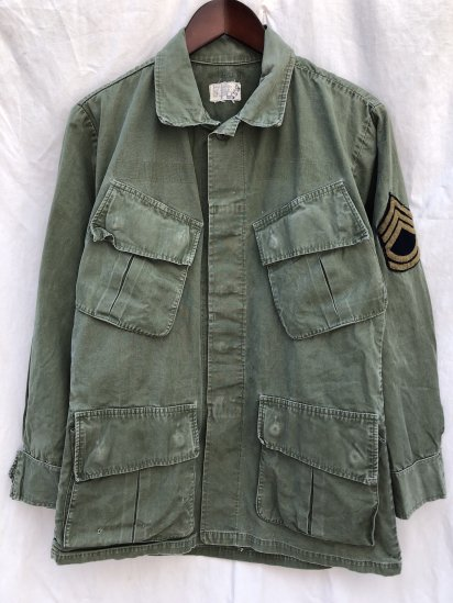 60's Vintage US Army 3nd Pattern Jungle Fatigue Jacket Small - Short / 4