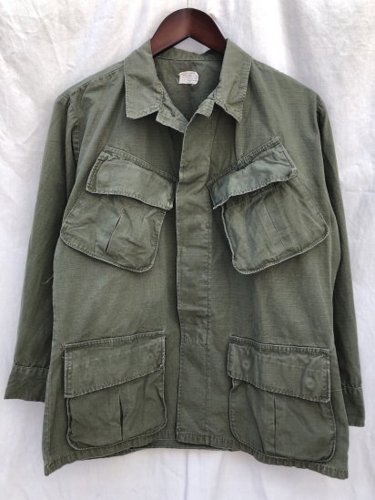 60's Vintage US Army 4th Pattern Jungle Fatigue Jacket Small - Short / 5