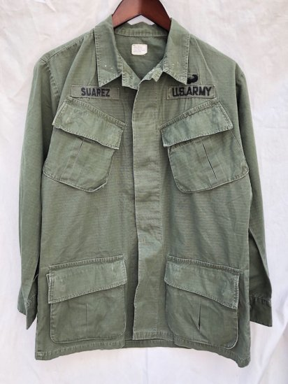 60's Vintage US Army 4th Pattern Jungle Fatigue Jacket Small - Ragular / 6