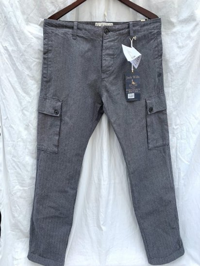Jack Wills Herringbone Cargo Pants Gray<BR>SALE !! 12,800 + Tax → 7800 + Tax