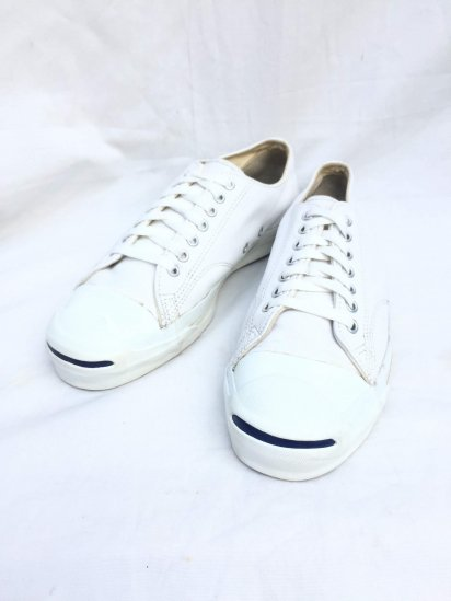 90's Vintage Converse Jack Purcell Leather Made in U.S.A White