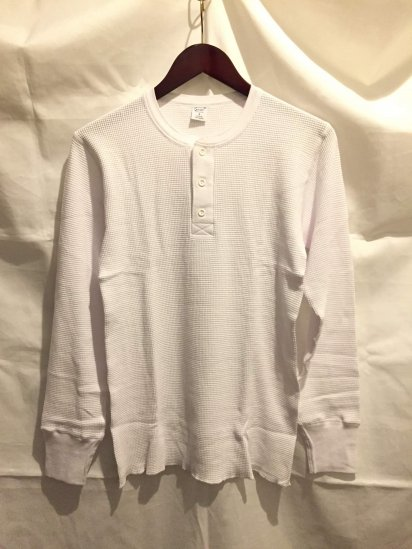 Gicipi Cotton Heavy Waffle Henley Neck L/S Made in Italy<BR>SALE!! 6,800 + Tax → 4,000 + Tax