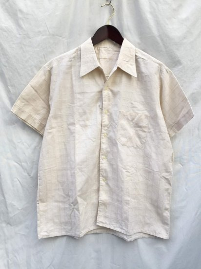 60's ~ 70's Vintage Leisure Shirts Beige / 3