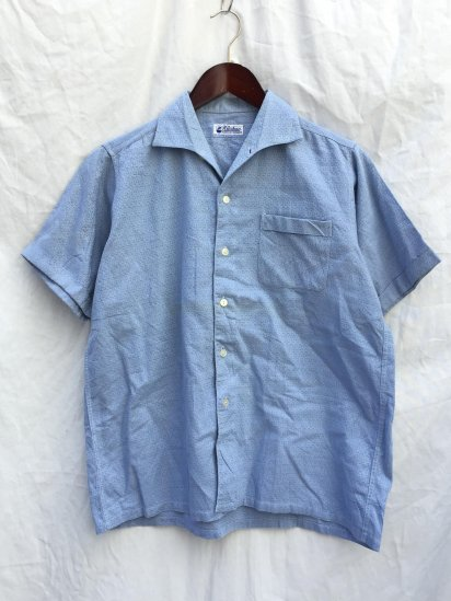 60's Vintage KLISCHAN Leisure Shirts Sax / 4