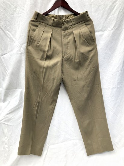 60's Vintage Dead Stock Canadian Army 1954 Pattern <BR> Service Dress Summer Trousers Khaki / 1