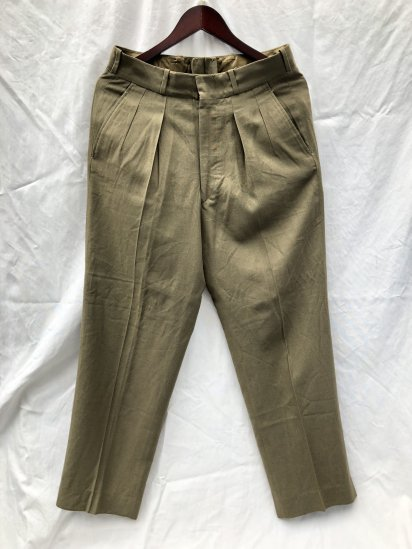 60's Vintage Dead Stock Canadian Army 1954 Pattern <BR> Service Dress Summer Trousers Khaki / 2