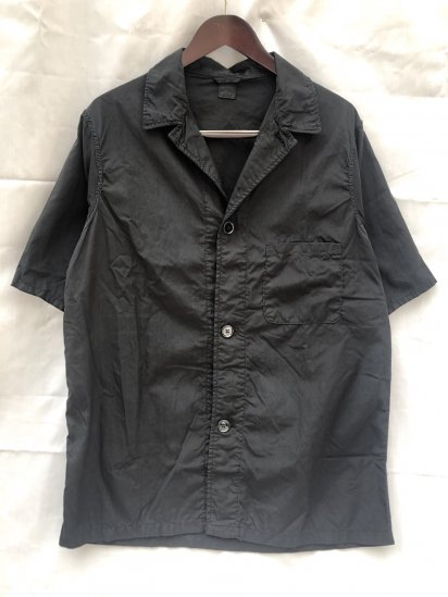 50's ~ 60's Vintage British Military Pajama Shirts Over Dyed in BLACK