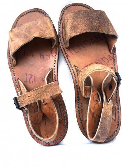 50's Vintage Dead Stock French Army Leather Sandal Type � / 1