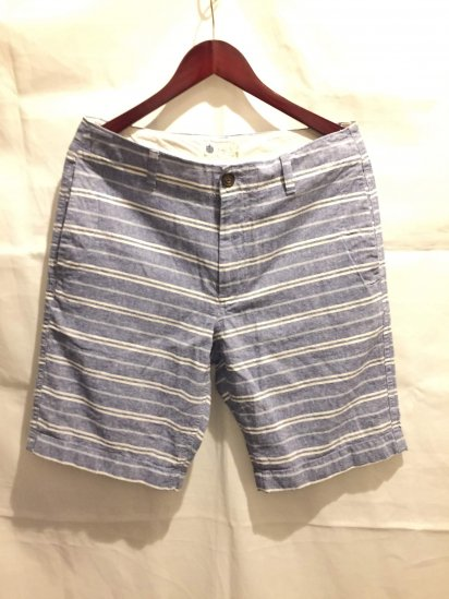 J.Crew Linen × Cotton Border Shorts<BR>SALE! 6,800 + Tax → 2,900 + Tax