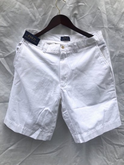 Ralph Lauren Flat Front Chino Shorts White