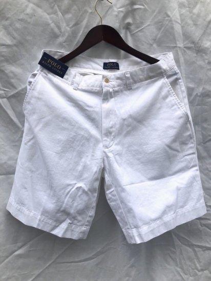 Ralph Lauren Flat Front Chino Shorts White