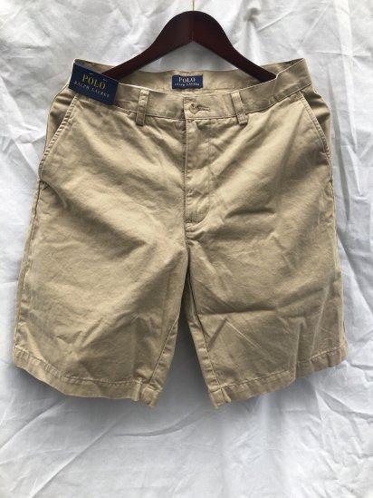 Ralph Lauren Flat Front Chino Shorts Khaki
