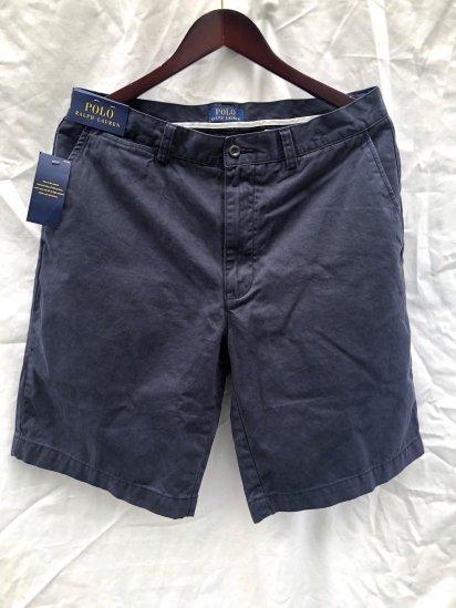 Ralph Lauren Flat Front Chino Shorts Navy