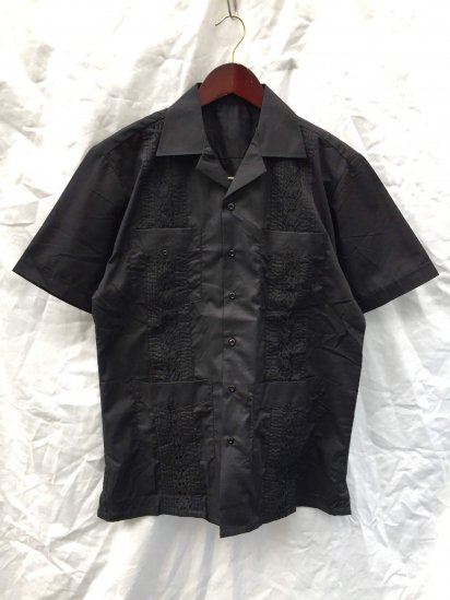 OMEGA (MAXIMOS) Short Sleeve Cuba Shirts Black