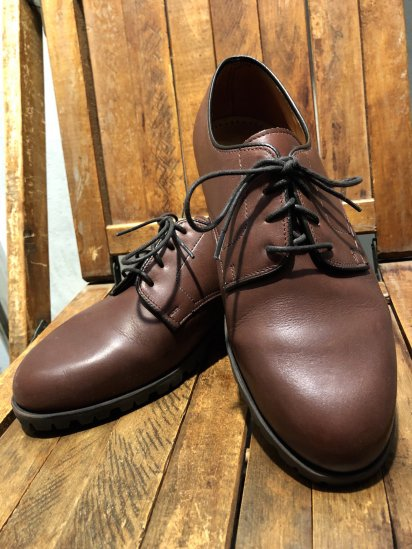 80's ~ 90's Old Church's Plain Toe Made in ENGLAND Last 26 Brown
